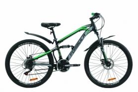 """Велосипед горный Formula BLAZE 2020 - 26"""", Черно-серый с зеленым (OPS-FR-26-380)"""