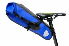 """Велосумка """"байкпакинг"""" под седло BRAVVOS A2-402 62x14x14cm черно-синяя"""