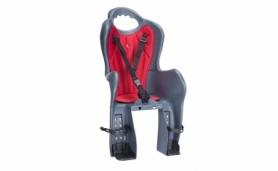 Кресло велосипедное детское на багажник Elibas P HTP design (CHR-007-1), темно-серое
