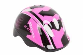 Шлем велосипедный детский HEL104 (HEAD-005) - черно-розовый, (3-8 лет)