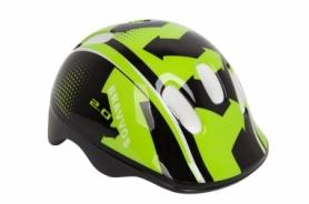 Шлем велосипедный детский HEL096 (HEAD-006) - черно-салатный, (3-8 лет)