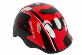 Шлем велосипедный детский HEL100 (HEAD-007) - черно-красный, (3-8 лет)
