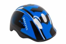 Шлем велосипедный детский HEL102 (HEAD-008) - черно-синий, (3-8 лет)