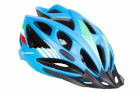 Шлем велосипедный с козырьком СIGNA WT-036 (HEAD-014) - синий, М (54-57см)