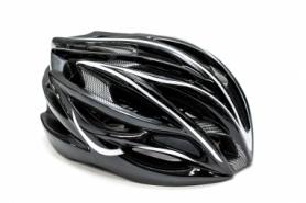 Шлем велосипедный FSK AH404 (HEAD-027) - чёрно-белый, L (56-63см)