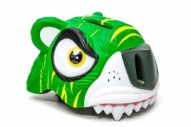 """Шлем велосипедный детский CIGNA """"Зеленый тигр"""" (HEAD-044), 49-55см (3-8 лет)"""