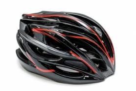 Шлем велосипедный FSK AH404 (HEAD-026) - черно-красный, L (56-63см)