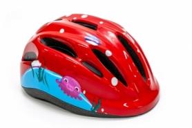Шлем велосипедный детский FSK KS502 (HEAD-029) - красный, 50-56см (3-8 лет)