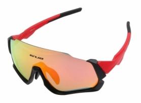 Очки велосипедные со сменными линзами GUB 5700 Anti Fog (GLA-014), красные