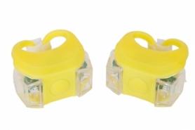 Мигалка BC-RL8002 белый+красный свет LED (L-016) - желтая, 2 шт