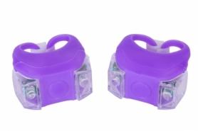 Мигалка BC-RL8002 белый+красный свет LED (L-020) - фиолетовая, 2 шт