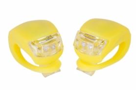 Мигалка BC-RL8001 белый+красный свет LED (L-009) - желтая, 2 шт