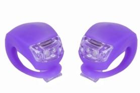 Мигалка BC-RL8001 белый+красный свет LED (L-013) - фиолетовая, 2 шт
