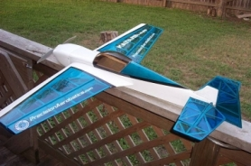 Самолет р/у Precision Aerobatics Katana Mini 1020мм KIT (синий)