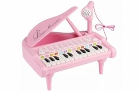 """Детское пианино синтезатор Baoli """"Маленький музикант"""" с микрофоном 24 клавиши (розовый)"""