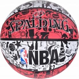 Мяч баскетбольный Spalding NBA Graffiti Outdoor (83574Z) - красный, №7