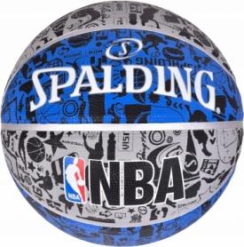 Мяч баскетбольный Spalding NBA Graffiti Outdoor (83176Z) - синий, №7