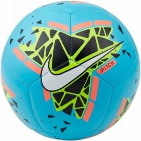 Мяч футбольный Nike Pitch (SC3807-486) - голубой, №5