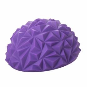 Полусфера массажная балансировочная (массажер для ног, стоп) Springos Balance Pad (FA0046) - фиолетовая, 16 см