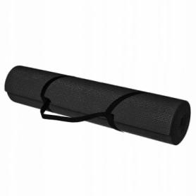 Коврик (мат) для йоги и фитнеса Springos PVC Black (YG0007), 170х60х0.4см