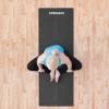 Коврик (мат) для йоги и фитнеса Springos PVC Black (YG0007), 170х60х0.4см - Фото №2