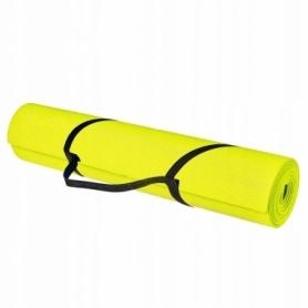 Коврик (мат) для йоги и фитнеса Springos PVC Yellow (YG0008), 170х60х0.4см