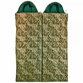 Спальный мешок (спальник) Champion Турист камуфляж, комплект 2 шт L+R