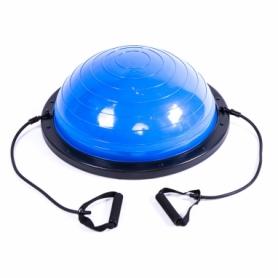 """Платформа балансировочная с эспандерами Pro Supra Bosu голубая, 60 см"""" (5415-14B)"""