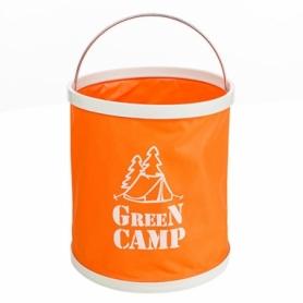 Ведро туристическое Green Camp (GC-B11R) - оранжевое, 11л