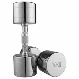 Гантель для фитнеса хромированная Iron Master, 10 кг (80034B-10)