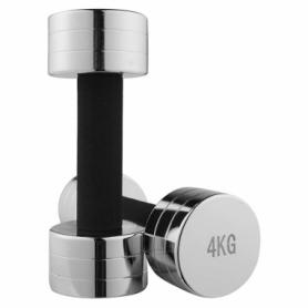 Гантель для фитнеса хромированная Iron Master, 4 кг (80034C-4)
