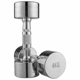 Гантель для фитнеса хромированная Iron Master, 4 кг (80034B-4)
