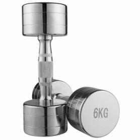 Гантель для фитнеса хромированная Iron Master, 6 кг (80034B-6)