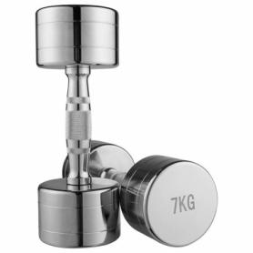 Гантель для фитнеса хромированная Iron Master, 7 кг (80034B-7)