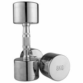 Гантель для фитнеса хромированная Iron Master, 8 кг (80034B-8)