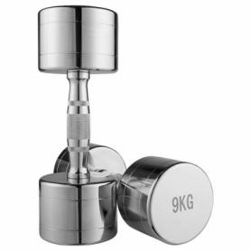 Гантель для фитнеса хромированная Iron Master, 9 кг (80034B-9)