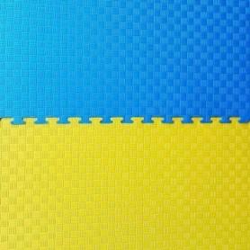 Мат-пазл (ласточкин хвост) Combat Budo желто-синий, 100х100х4 см (EVA40YB)