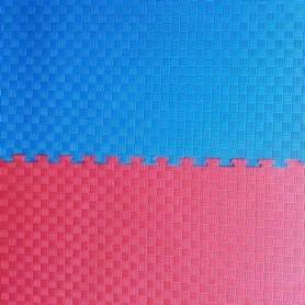Мат-пазл (ласточкин хвост) Combat Budo сине-красный, 100х100х4 см (EVA40RB)