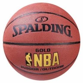 Мяч баскетбольный Spalding PU NBA Gold, №7 (SPL7-PU/GL)
