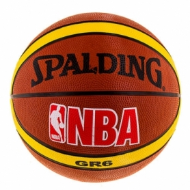 Мяч баскетбольный резиновый Spalding, №6 (R6SPL-NBA)