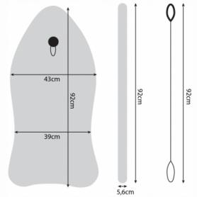 Доска для плавания на волнах SportVida Bodyboard (SV-BD0002-4) - Фото №5