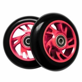 Колеса для трюкового самоката SportVida Alu Abec 9 RS 100 мм PU (SV-WO0009), розовые