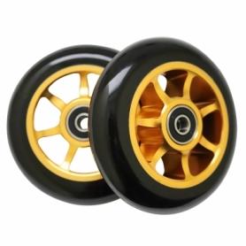 Колеса для трюкового самоката SportVida Alu Abec 9 RS 100 мм (PU SV-WO0011), желтые