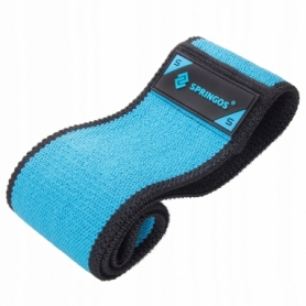 Резинка для фитнеса и спорта тканевая Springos Hip Band Heavy (FA0109) - голубая,  S