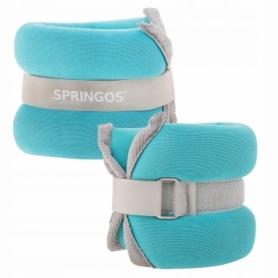Утяжелители-манжеты для ног и рук Springos (FA0071), 2 шт по 1 кг