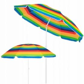 Зонт пляжный с регулируемой высотой и наклоном Springos (BU0009) - цветной, 180 см