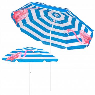 Зонт пляжный с регулируемой высотой и наклоном Springos (BU0013) - голубой, 180 см