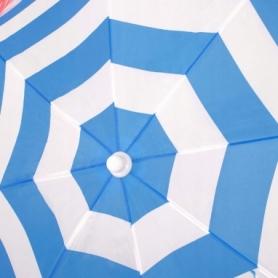 Зонт пляжный с регулируемой высотой и наклоном Springos (BU0013) - голубой, 180 см - Фото №2