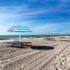 Зонт пляжный с регулируемой высотой и наклоном Springos (BU0013) - голубой, 180 см - Фото №3