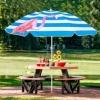 Зонт пляжный с регулируемой высотой и наклоном Springos (BU0013) - голубой, 180 см - Фото №4